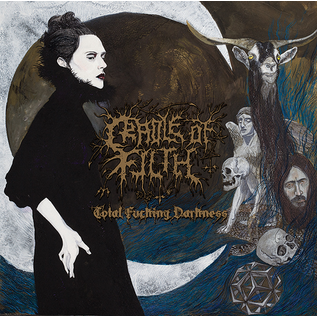 Cradle Of Filth ‎– Total Fucking Darkness LP blue vinyl