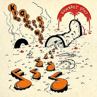 King Gizzard And The Lizard Wizard -- Gumboot Soup LP orange translucent w/ red smoke & black splatter vinyl