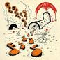 King Gizzard and the Lizard Wizard – Gumboot Soup LP orange translucent w/ red smoke & black splatter vinyl