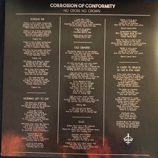 Corrosion Of Conformity -- No Cross No Crown LP purple vinyl