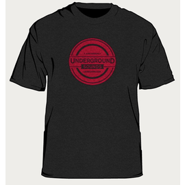 UNDERGROUND SOUNDS SHIRT BLK/RED XL 2013