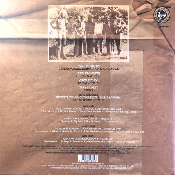 Humble Pie ‎– Official Bootleg Collection Vol  1 LP