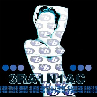3RA1N1AC (Brainiac) ‎– Hissing Prigs In Static Couture LP clear blue vinyl with swirls