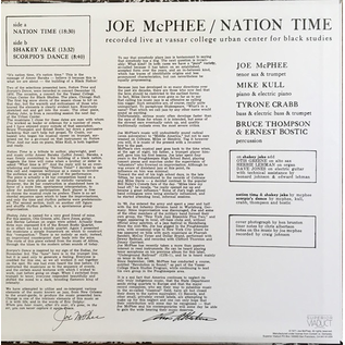 Joe McPhee - Nation Time LP