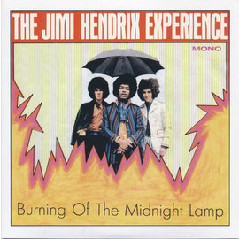 "Jimi Hendrix Experience ‎– Burning Of The Midnight Lamp 7"" vinyl transparent orange crush numbered"