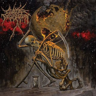 Cattle Decapitation ‎– Death Atlas LP gold and black splatter vinyl