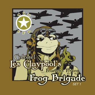 Colonel Les Claypool's Fearless Flying Frog Brigade - Live Frogs Sets 1 & 2 LP lime green splatter vinyl
