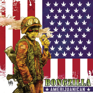 Bongzilla ‎– Amerijuanican LP Milky Clear with Blood Red, Royal Blue and Olive Green Splatter vinyl
