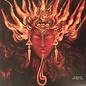 """Auroch – Stolen Angelic Tongues 12"""" EP neon magenta with black & mustard yellow splatter vinyl"""