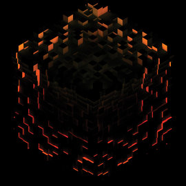 C418 ‎– Minecraft - Volume Beta LP fire splatter vinyl