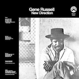 Gene Russell – New Direction LP clear with heavy black swirl vinyl