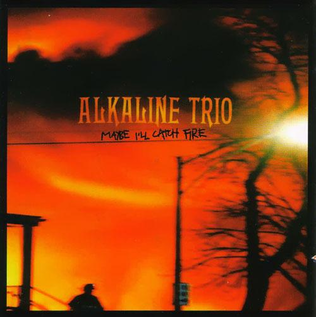 Alkaline Trio ‎– Maybe I'll Catch Fire LP yellow/brown split vinyl