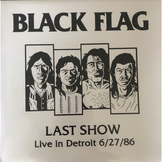 Black Flag ‎– Last Show- Live In Detroit 6/27/86 LP red vinyl
