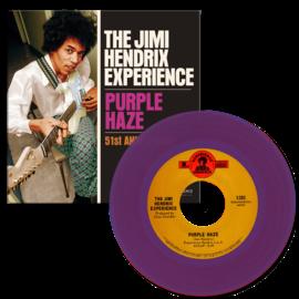 "Jimi Hendrix Experience – Purple Haze / 51st Anniversary 7"" purple vinyl"