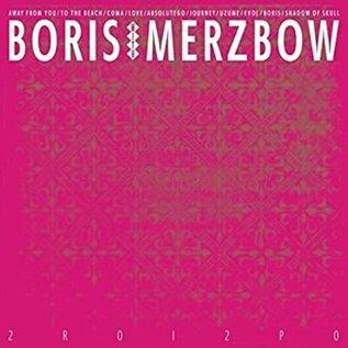 Boris With Merzbow – 2R0I2P0 LP metallic gold, neon magenta & white tri color merge with splatter vinyl