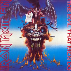 "Iron Maiden – The Evil That Men Do 7"" vinyl"