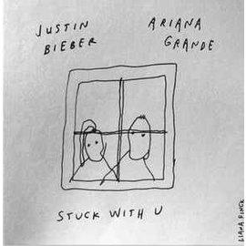 "Ariana Grande & Justin Bieber – Stuck With U 7"" vinyl"