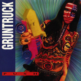 Gruntruck – Push LP clear with opaque red and yellow swirl vinyl