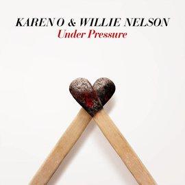 """Karen O & Willie Nelson – Under Pressure 7"""" white/blue vinyl"""