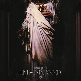 Bad Omens - Live + Unplugged LP neon magenta inside ultra clear w/ black splatter