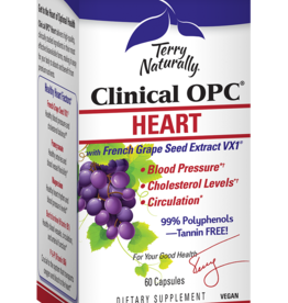 TERRY NATURALLY CLINICAL OPC HEART w/ French Grape Seed Extract VX1 60 CP -S