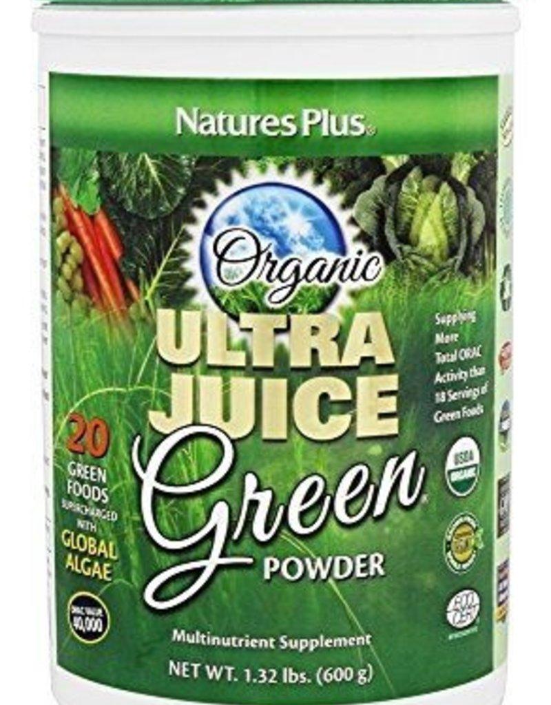 NATURES PLUS ULTRA JUICE GREEN DRINK (60 servings) 1.32 LB Certified Organic (m1)