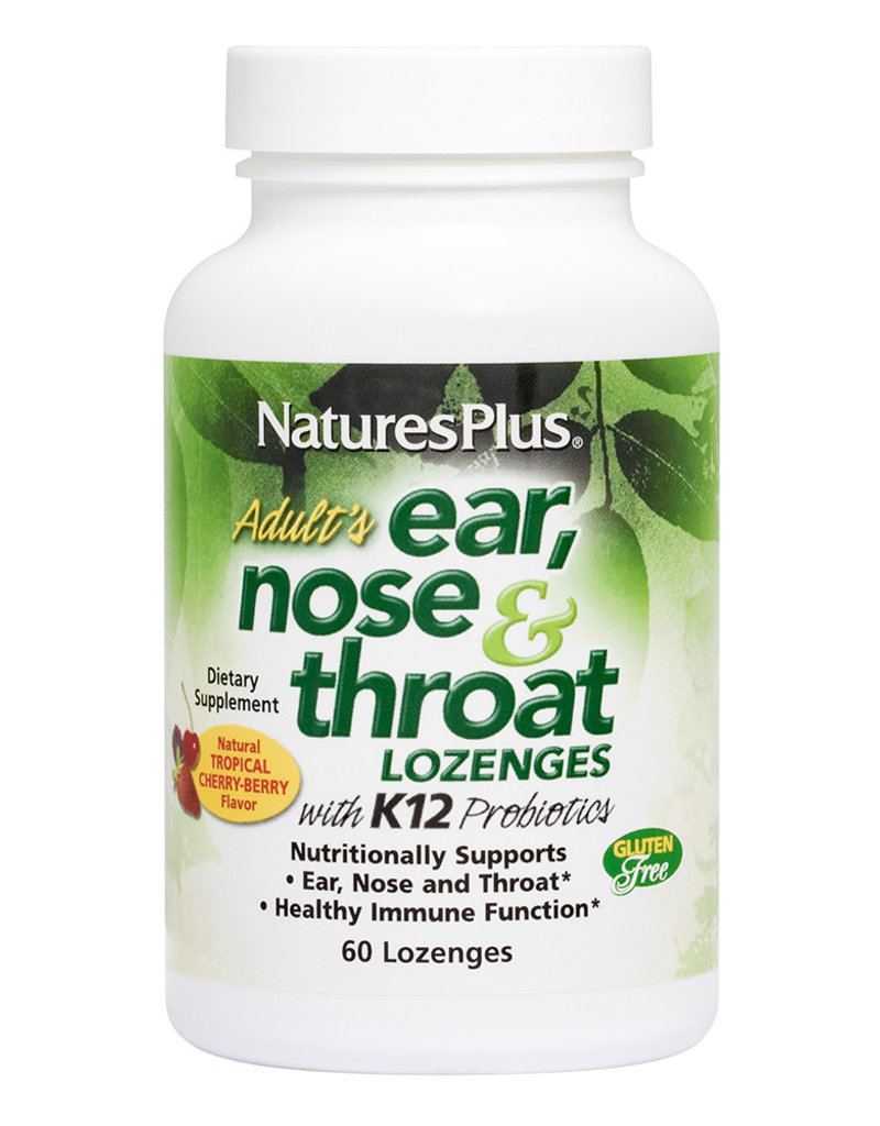 NATURES PLUS ADULTS EAR NOSE & THROAT 60 LZ -18 (m1)