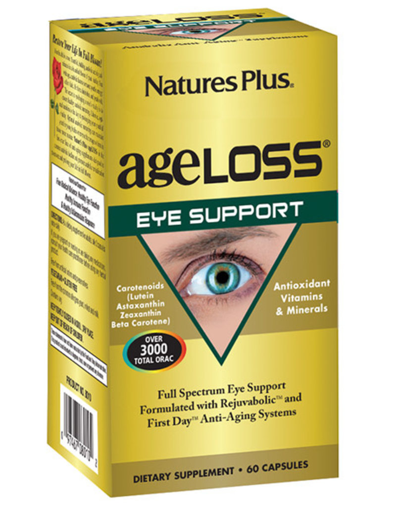 NATURES PLUS AGELOSS EYE SUPPORT 60 VC (m1)