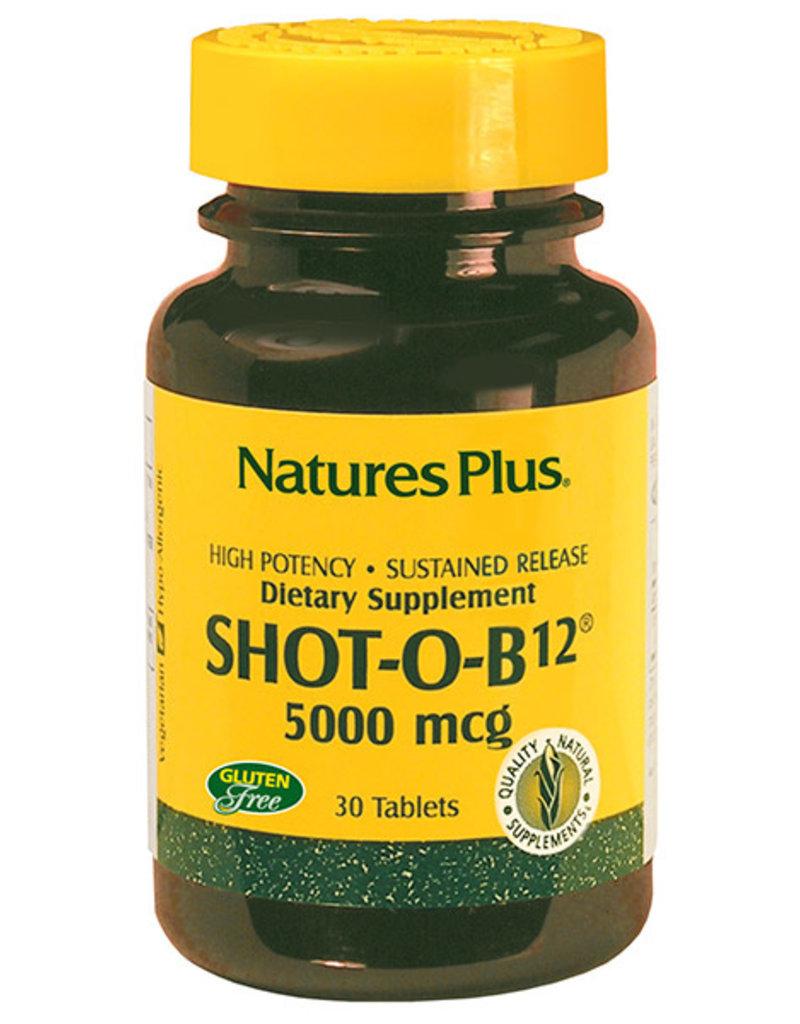 NATURES PLUS SHOT-O-B12 5000 MCG