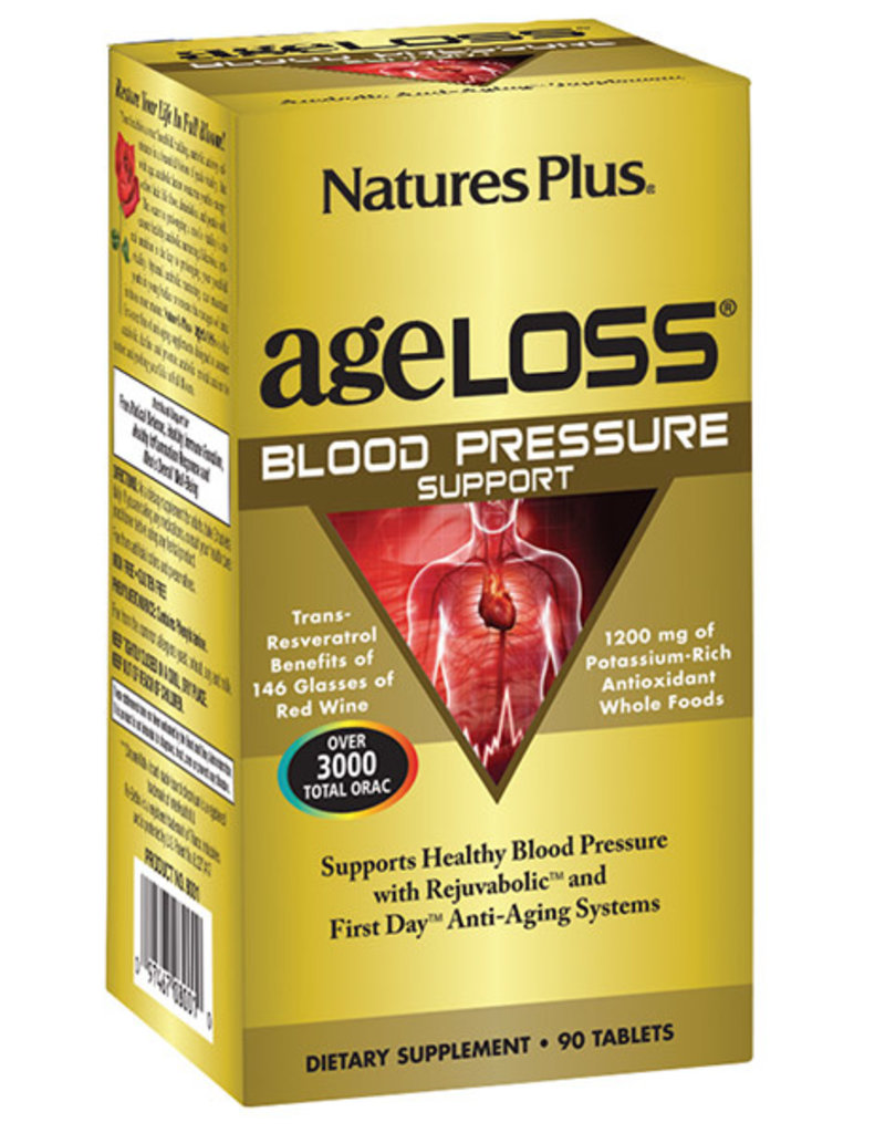 NATURES PLUS AGELOSS BLOOD PRESSURE SUPPORT 90 TB (m1)