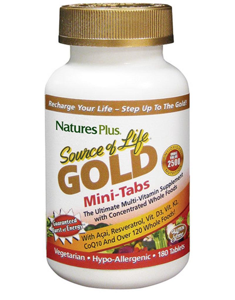 NATURES PLUS SOURCE OF LIFE GOLD MINI-TABS 180 TB (m1)