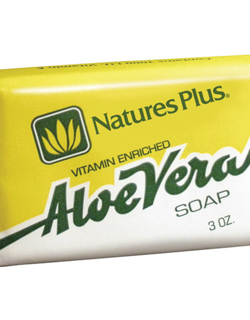 NATURES PLUS ADE ALOE VERA SOAP 3 OZ (m3)
