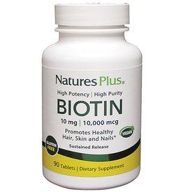 NATURES PLUS BIOTIN 10 MG (10,000 MCG) S/R TAB 90 (m3)