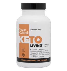 NATURES PLUS KETO LIVING SUGAR CONTROL 90CP (m1)