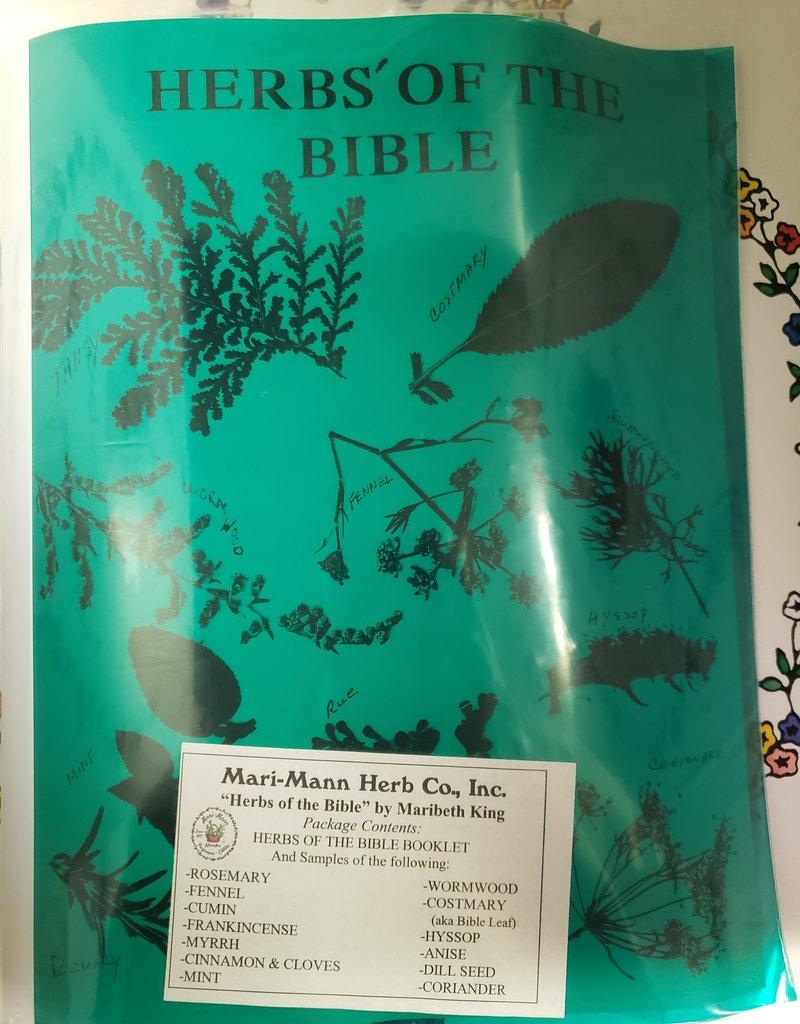 MARI-MANN BOOK - HERBS OF THE BIBLE - KIT