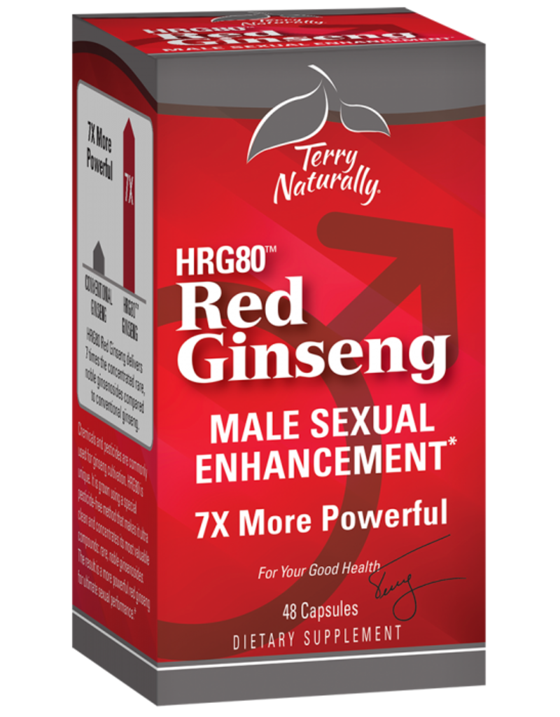 TERRY NATURALLY HRG80 Red Ginseng MALE SEXUAL ENHANCEMENT* 48 CP