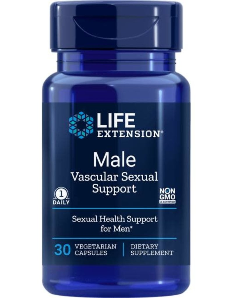 LIFE EXTENSION MALE VASCULAR SEXUAL SUPPORT 100MG KAEMPMAX 30VC
