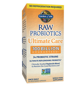 GARDEN OF LIFE RAW PROBIOTICS ULTIMATE CARE (SHELF) 30 CP
