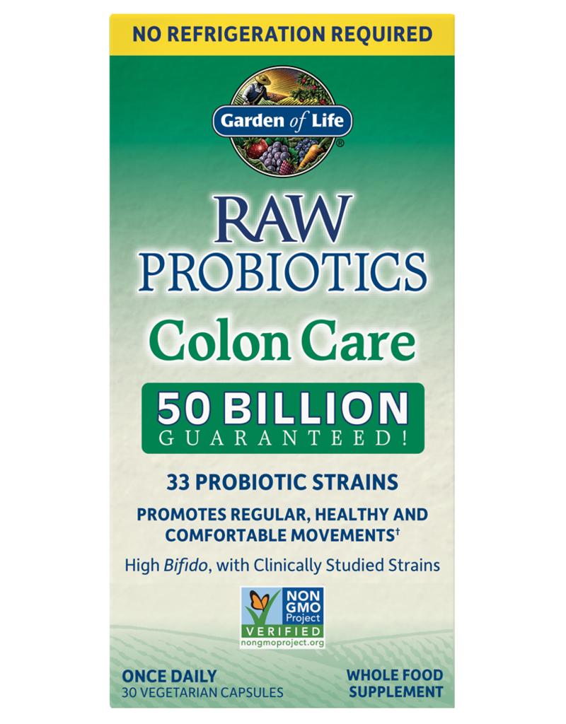 GARDEN OF LIFE RAW PROBIOTICS COLON CARE (SHELF) 30 CP