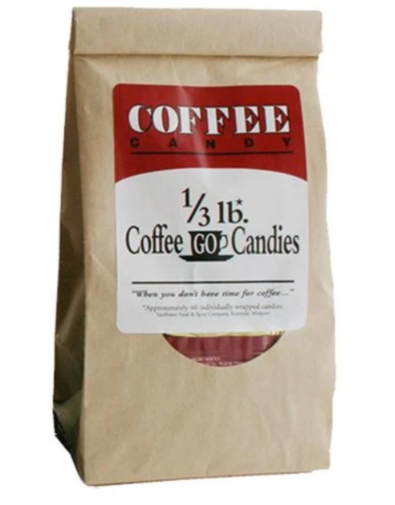 COFFEE GO CANDIES SHORT DATED- COFFEEGO CANDY BAG 1/3LB KRAFT BAG (single) [dated 11/21]
