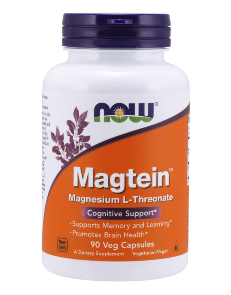 NOW FOODS MAGTEIN 667 MG 90 VC (MAGNESIUM L-THREONATE)