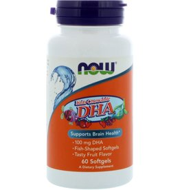 NOW FOODS KIDS CHEWABLE DHA 100 MG 60 CHW