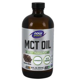 NOW FOODS MCT OIL - CHOCOLATE MOCHA FLAVOR 16 FL OZ (+$2 ASR)