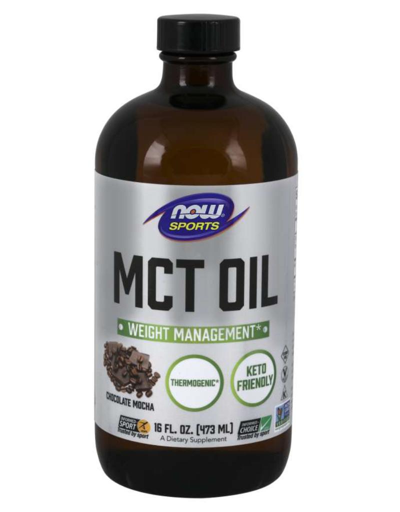 NOW FOODS MCT OIL - CHOCOLATE MOCHA FLAVOR 16 FL OZ(+$2 ASR)