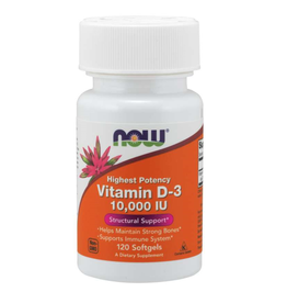 NOW FOODS VITAMIN D 10,000 IU W/ ORG OLIVE OIL 120 SG