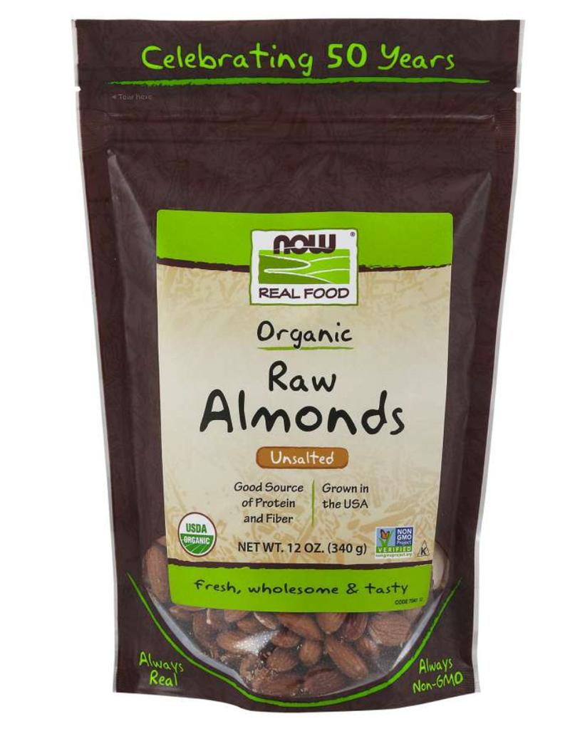 NOW FOODS ORGANIC RAW ALMONDS 12 OZ