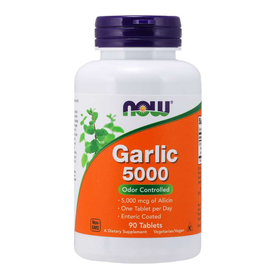 NOW FOODS GARLIC 5000 ENTERIC-COATED HIGH POTENCY 90 TB