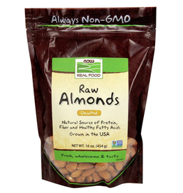 NOW FOODS ALMONDS RAW SHELLED, NATURAL 16 oz BG