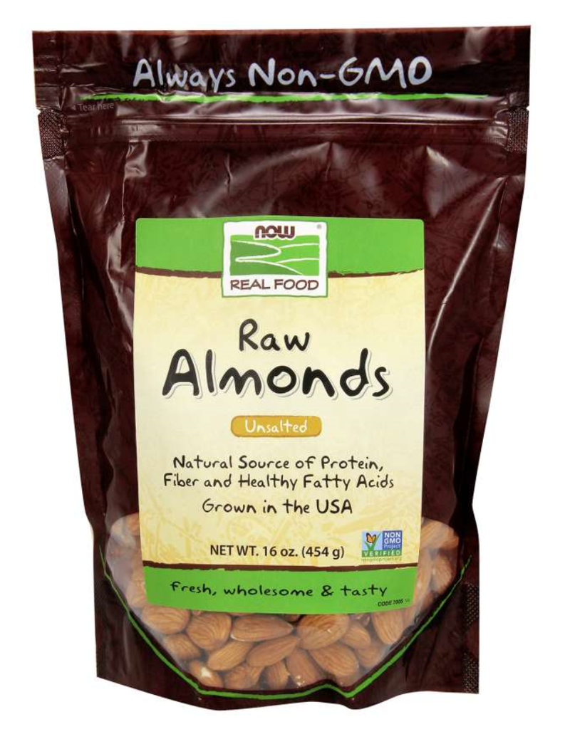 NOW FOODS ALMONDS SHELLED, NATURAL 1# BG