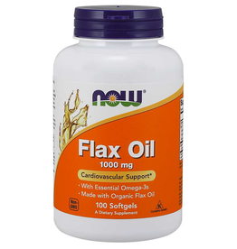 NOW FOODS FLAX SEED OIL ORGANIC 1000MG 100SG OD DNR